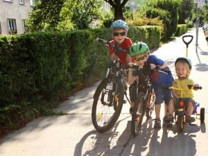 Radeln mit Kids in Döbling