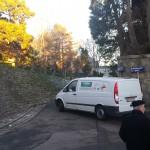 Blick W->O: Einbiegesituation MIV von Wallmoden kommend in Haubenbigl