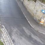 Vogelperspektive: Einbiegesituation MIV von Wallmoden kommend in Haubenbigl