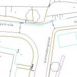 Skizze der Ist-Situation an der T-Kreuzungssituation Haubenbiglstraße Wallmodengasse