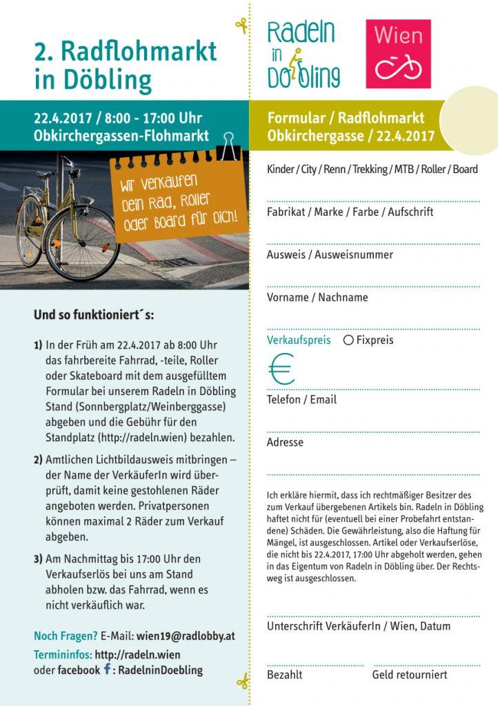 Radflohmarkt Döbling Formular
