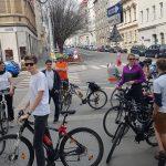 DöblingerInnen am Treffpunkt zur Radparade 2018 (CC) Radeln in Döbling