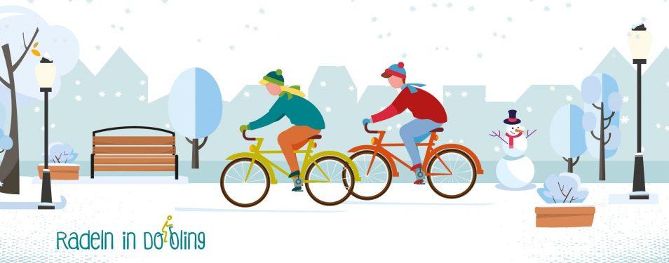 Sicher und warm Radfahren im Winter...