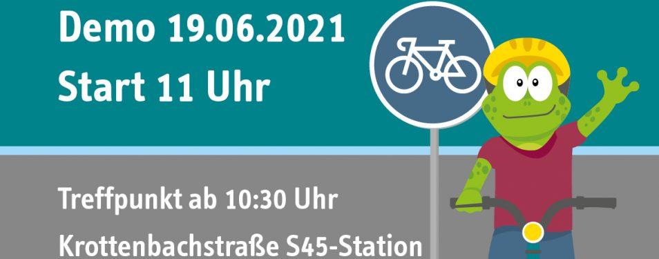 19.6. Demo Radweg Krottenbachstraße...